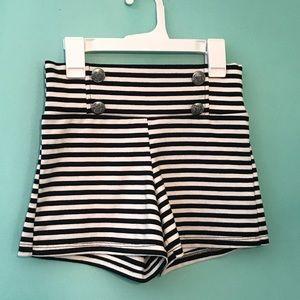 Pants - striped sailor shorts rockabilly mod retro